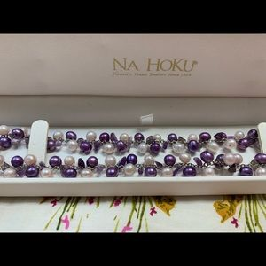 Na Hoku freshwater pearls and amethyst necklace